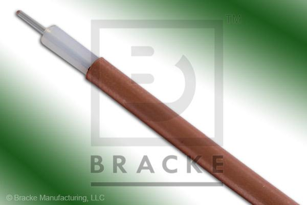 "50 Ohm, RG402/U Bulk Cable, Bare Copper, .141"" Dia. 1 Shield, Solid Center Conductor .036"""