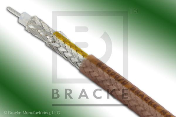 "50 Ohm, RG400/U Bulk Cable, FEP-IX Jacket, .195"" Dia. 2 Shield, Stranded Center Conductor .0384"""