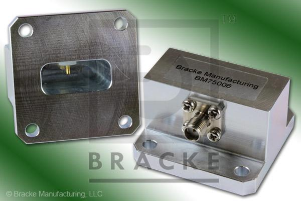 Waveguide to Coax Adapter SMA Female WR-90 Frequency Range 8.20-12.40 GHz