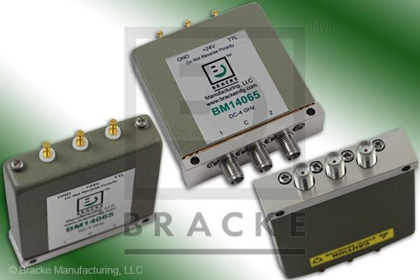 SMA Female SPDT Relay Switch DC-4 GHz, 24 Vdc Feature: Latching, TTL, Terminated