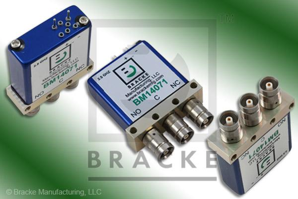 1.6/5.6 Female SPDT Relay Switch 2.5 GHz, 28 Vdc Features: Failsafe