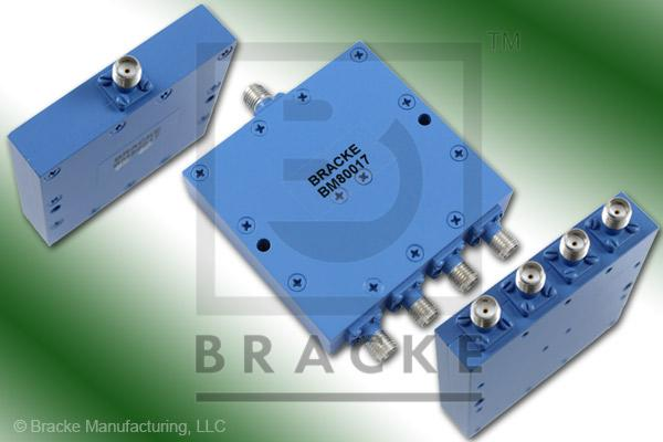 SMA Female Power Divider Frequency Range 4-8 GHz 4 Outport Ports, VSWR 1.45:1 Max