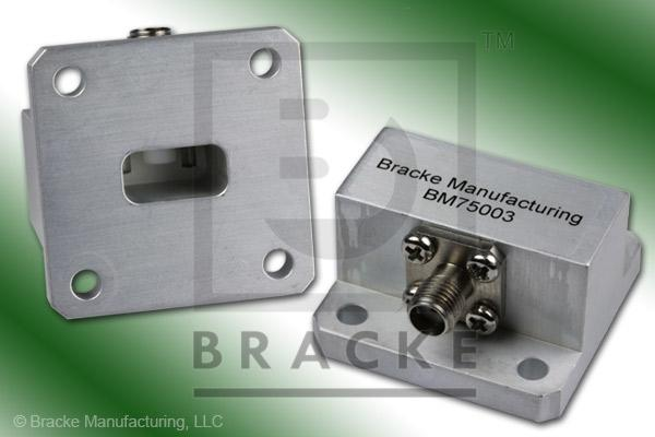 Waveguide to Coax Adapter SMA Female WR-51 Frequency Range 15.00-22.00 GHz