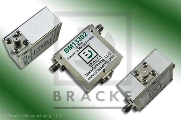 50 Ohm SMA Isolator, Frequency Range 2-4 GHz 30 Watts, 18 dB Isolation Min., .50 Insertion Loss, Max VSWR 1.30:1
