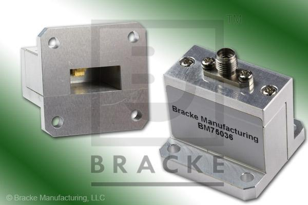 Waveguide to Coax Adapter, End Launch, SMA Female, WR-62 Frequency Range 12.40-18.00 GHz