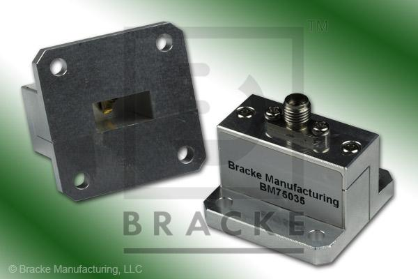Waveguide to Coax Adapter, End Launch, SMA Female, WR-51 Frequency Range 15.00-22.00 GHz