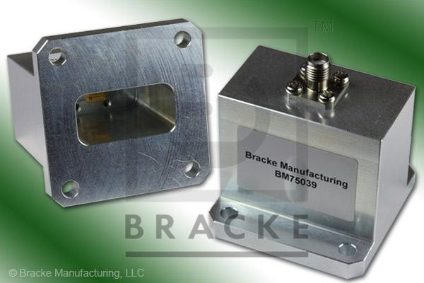 Waveguide to Coax Adapter, End Launch, SMA Female, WR-102 Frequency Range 7.00-11.00 GHz