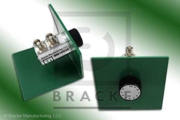 50 Ohm BNC Female Attenuator 2 GHz, 0-1 in .1 dB Steps Rotary Single Stage Bench Mount
