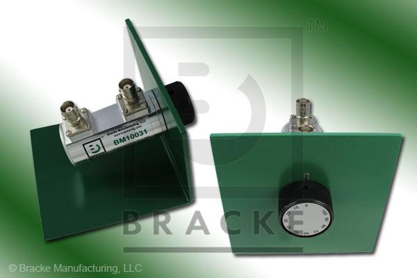 50 Ohm BNC Female Attenuator 1 GHz, 0-100 in 10 dB Steps Rotary Single Stage Bench Mount