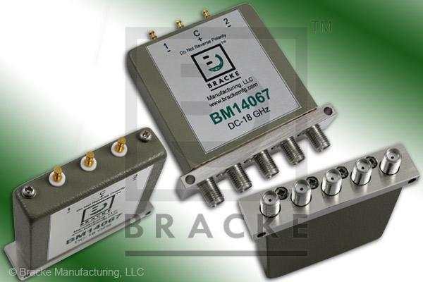 SMA Female Relay Switch DC-18 GHz, 24 Vdc Features: Latching, TTL