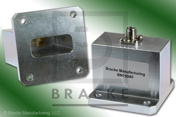 Waveguide to Coax Adapter, End Launch, SMA Female, WR-112 Frequency Range 7.00-10.00 GHz