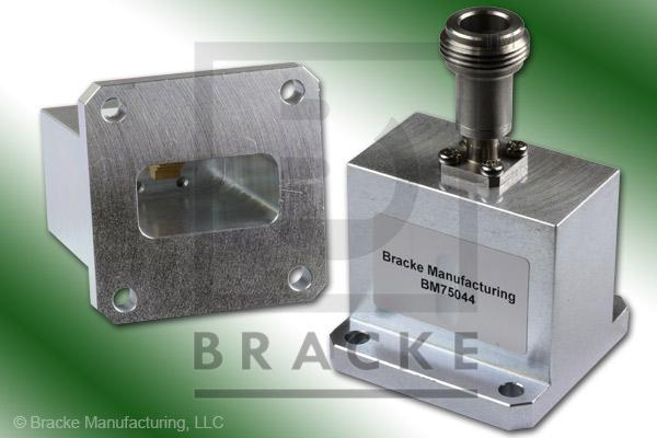 Waveguide to Coax Adapter, End Launch, N Female, WR-102 Frequency Range 7.00-11.00 GHz