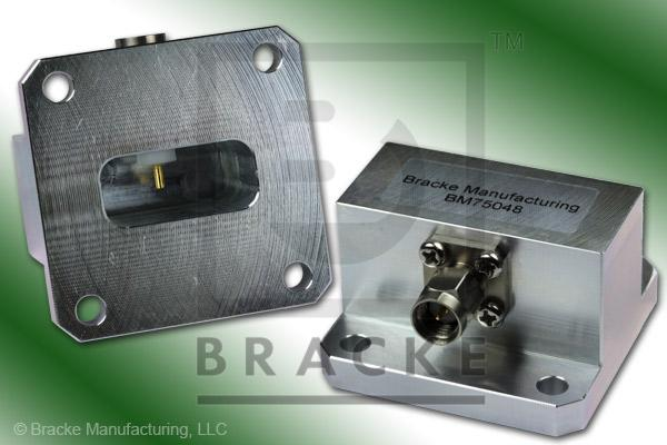 Waveguide to Coax Adapter, SMA Male, WR-90, Frequency Range 8.20-12.40 GHz