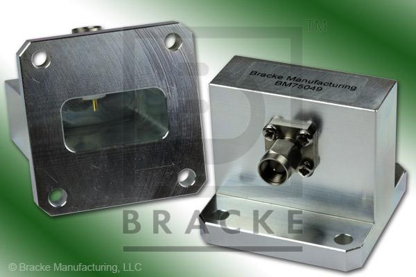 Waveguide to Coax Adapter, SMA Male, WR-102, Frequency Range 7.00-11.00 GHz
