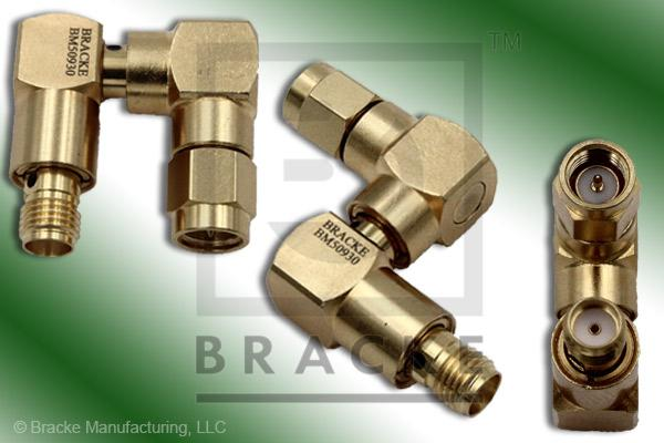 PRECISION, SMA Male to SMA Female Rotary Joint Multi-Directional Adapter (Max VSWR 1.30:1 @ 6 GHz)