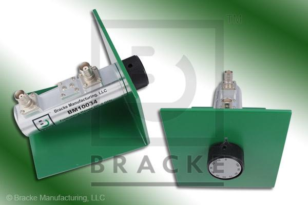 50 Ohm BNC Female Attenuator 2 GHz, 0-100 in 10 dB Steps Rotary Single Stage Bench Mount