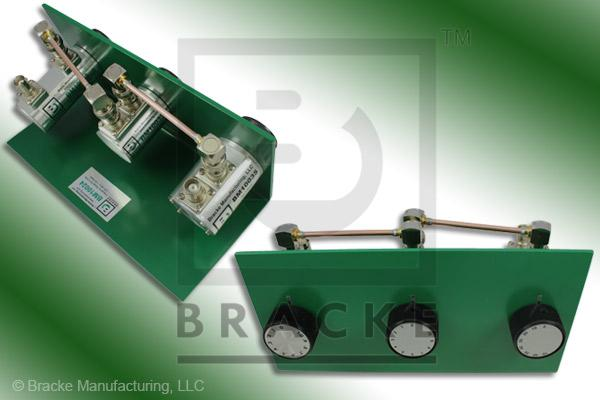50 Ohm BNC Female Attenuator 2 GHz, 0-81 in .1 dB Steps Rotary Triple Stage Bench Mount