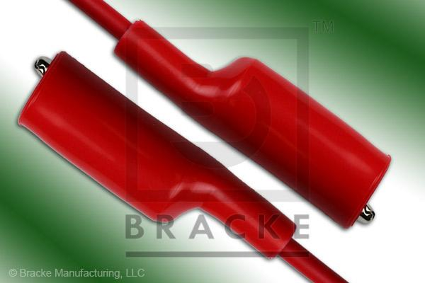 Alligator Clip to Alligator Clip Patch Cord Assembly Single Red Lead, 12""
