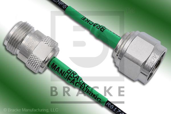 N Male Low PIM to N Female Low PIM Cable Assembly LMR-100A
