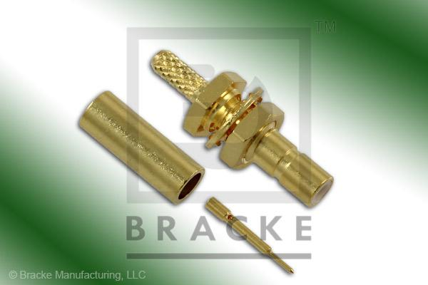SSMB Jack Bulkhead Connector Crimp RG178, RG196