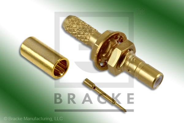 SSMB Jack Bulkhead Connector Crimp RG188-Double, RG316-Double