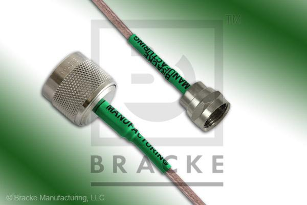 F Male to 75 Ohm N Male Cable Assembly RG179B/U