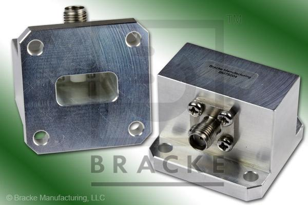 Waveguide to Coax Adapter SMA Female WR-62 Frequency Range 12.40-18.00 GHz