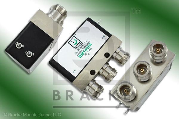 N Female Relay SPDT Switch, DC-4 GHz, 22-32 Vdc Features: Failsafe