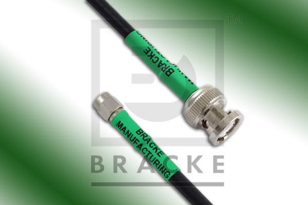 BNC Male to Reverse Polarity SMA Male Cable Assembly RG223/U