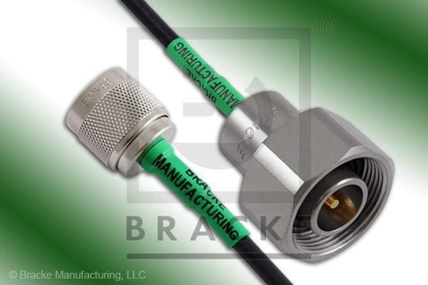 4.1/9.5 Din Male to N Male Cable Assembly RG58C/U