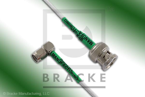 BNC Male to SMA Male Right Angle Cable Assembly RG188A/U