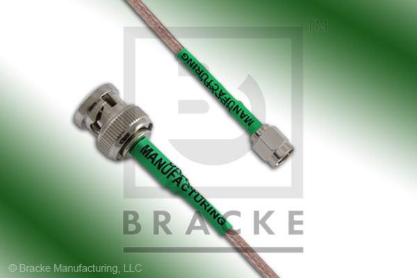 BNC Male to Reverse Polarity SMA Male Cable Assembly RG316/U