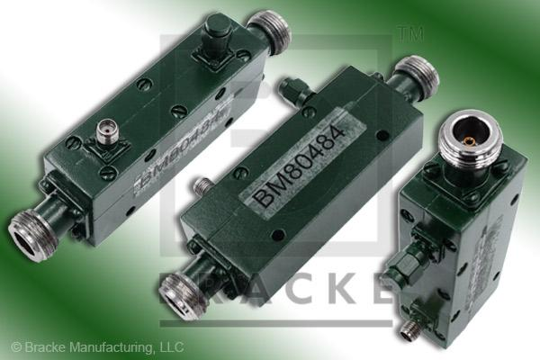 N Female High Power Directional Coupler, Frequency Range 4-8 GHz, Coupling 30 +/- 1.50 dB