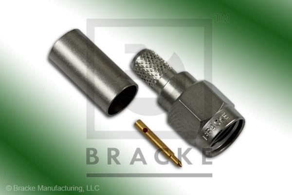 SMA Male Connector Crimp LMR-195, RG58, TCOM-195