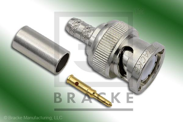 BNC Male Connector Crimp LMR-195, RG58, TCOM-195