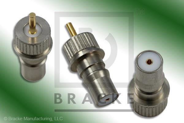 "QMA Female Press Mount Connector .050"" Round Contact"
