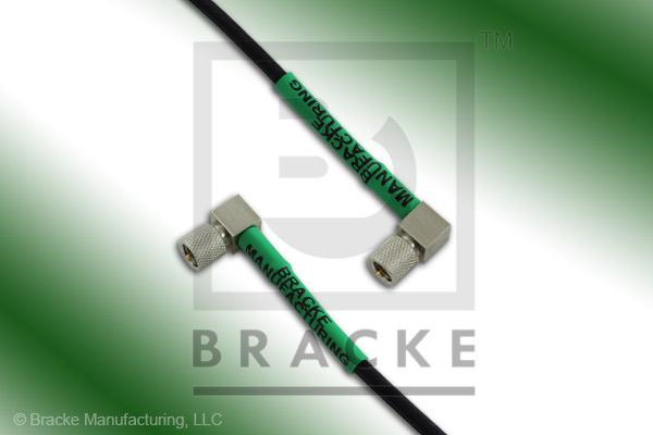 10-32 Male Right Angle to 10-32 Male Right Angle Cable Assembly RG174A/U