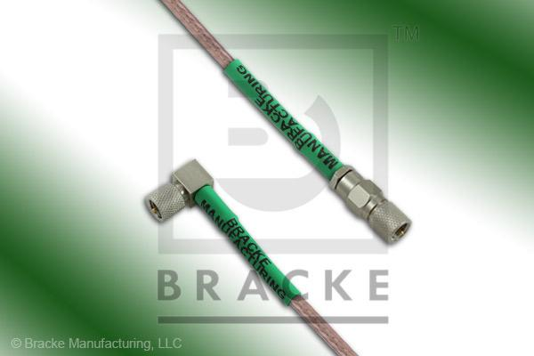 10-32 Male to 10-32 Male Right Angle Cable Assembly RG316/U