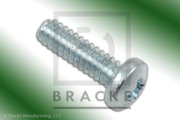 "#4-40 Phillips Screw, 3/8"" Length, Zinc Plated *Sold in 50 Pieces Per Pack*"