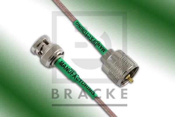 BNC Male to UHF Male Cable Assembly RG316/U