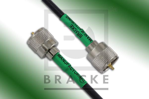 UHF Male to UHF Male Cable Assembly RG58C/U