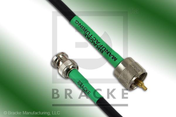 BNC Male to UHF Male Cable Assembly RG59B/U