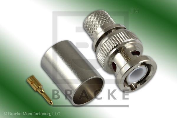 BNC Male Connector Crimp RG9, RG214, RG225, RG393