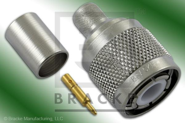 HN Male Connector Crimp RG9, RG214, RG225, RG393