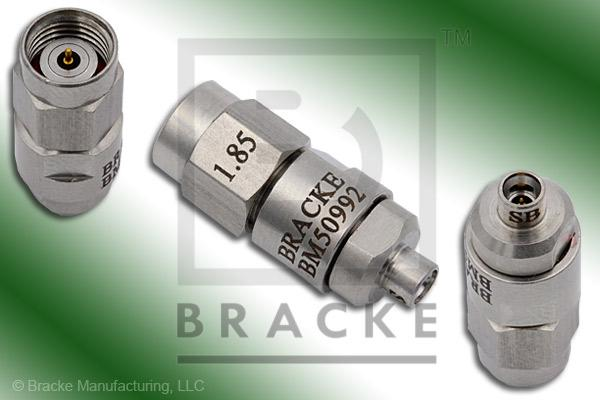 PRECISION, 1.85mm Male to Mini SMP Male Smooth Bore Adapter Max VSWR 1.50:1 @ 65 GHz