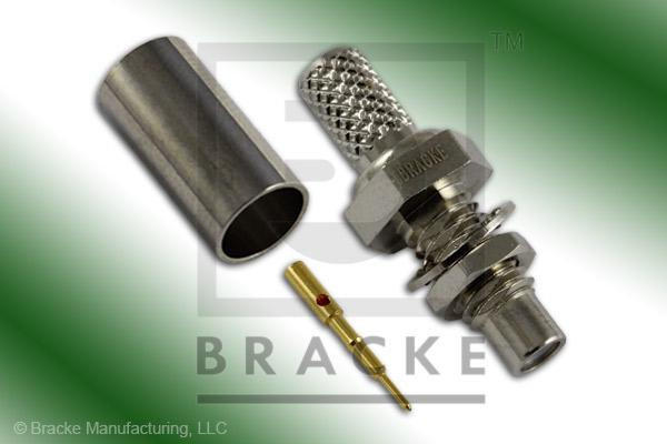 SMC Jack Bulkhead Connector Crimp LMR-195, RG58, TCOM-195