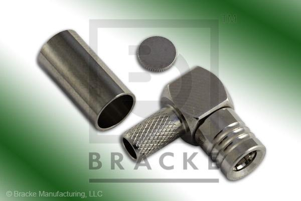 SMB Plug Right Angle Connector Crimp LMR-195, RG58, TCOM-195