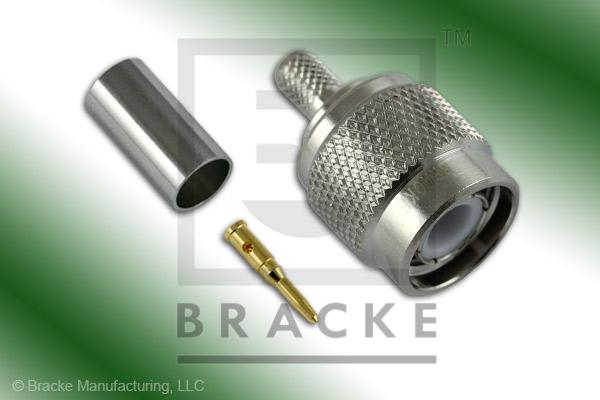 TNC Male Connector Crimp LMR-195, RG58, TCOM-195