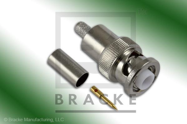 MHV Male Connector Crimp LMR-195, RG58, TCOM-195