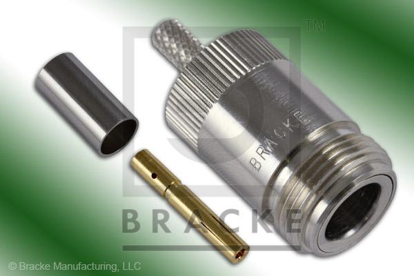 N Female Connector Crimp LMR-195, RG58, TCOM-195